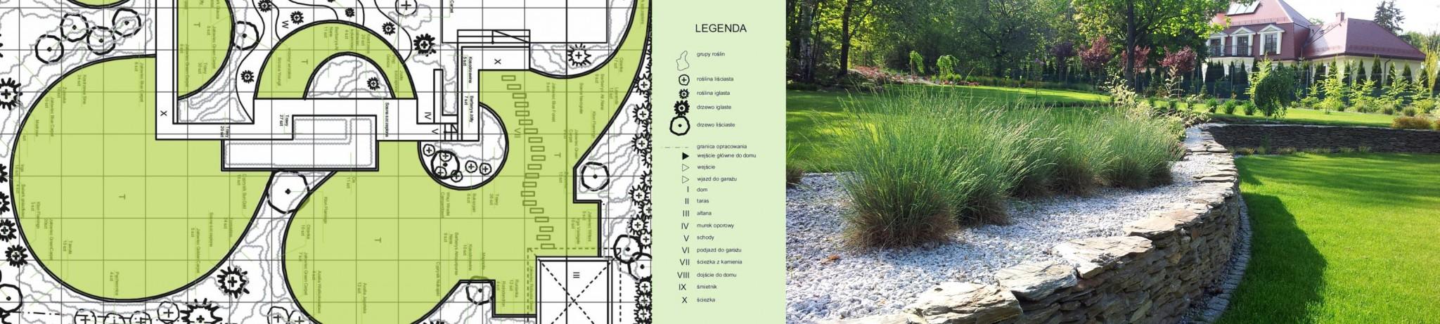Przykład projektu ogrodu i realizacji